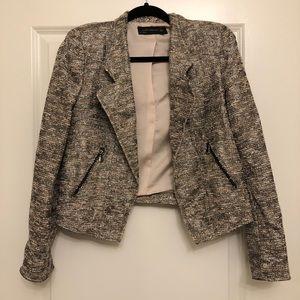Zara Woman shimmer metallic blazer jacket